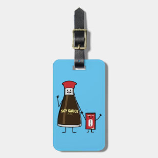 Soy Sauce Bottle Packet kid child condiment Asian Luggage Tag