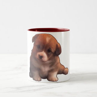 Soy un cachorrito Two-Tone mug