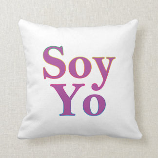 Soy Yo (I am me) Throw Pillow