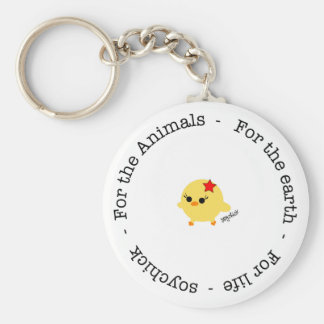 Soychick For Animals, Earth and Life Keychain
