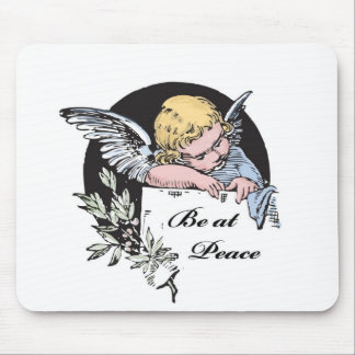 Soyez à l'ange de paix tapis de souris