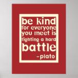 Soyez affiche inspirée aimable de mots - rouge