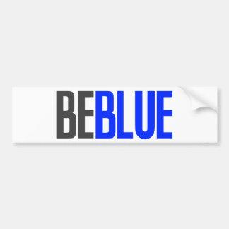 Soyez bleu autocollant de voiture