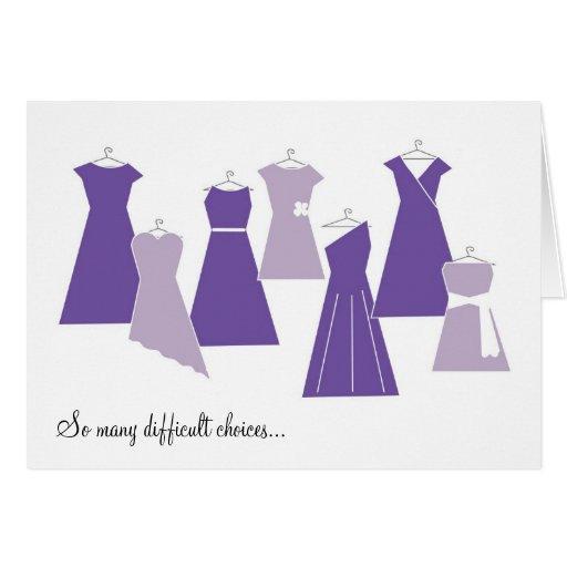 Soyez ma carte de demoiselle d'honneur (les robes