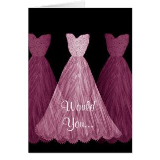 Soyez ma demoiselle d'honneur - carte de mariage