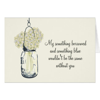 Soyez ma demoiselle d'honneur - fleurs d'hortensia carte de vœux