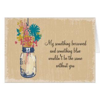 Soyez ma demoiselle d'honneur - pot et fleurs sauv carte