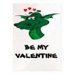 SOYEZ MON VALENTINE - carte de profil de dragon Cartes De Visite Professionnelles
