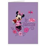 Soyez mon Valentine Carte De Vœux