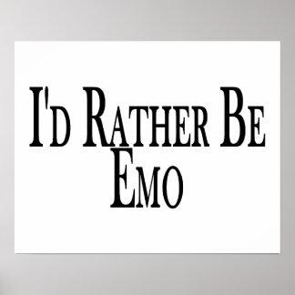 Soyez plutôt Emo Poster
