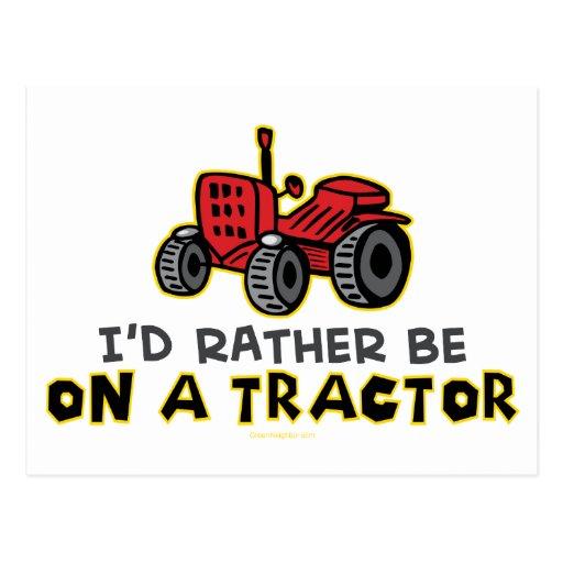 Soyez plutôt sur un tracteur cartes postales