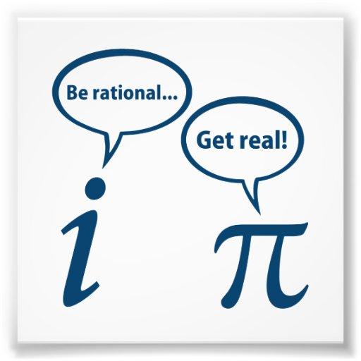 Soyez rationnel obtiennent les vraies maths imagin photos sur toile