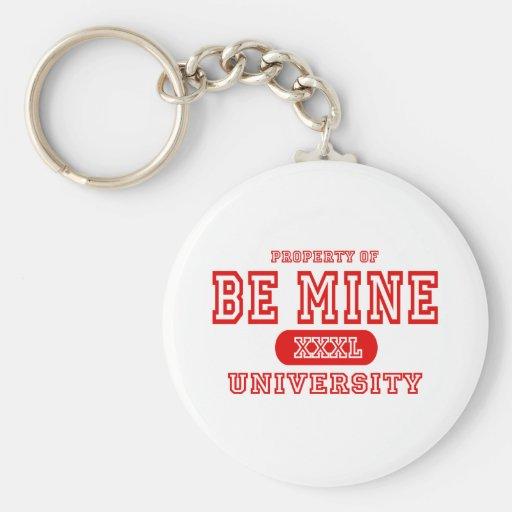 Soyez université de mine porte-clé rond