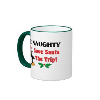 Soyez vilain ! Sauvez Père Noël le voyage ! Mug Ringer