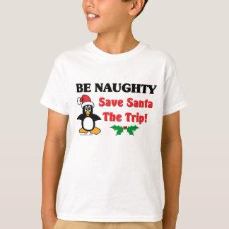 Soyez vilain ! Sauvez Père Noël le voyage ! Tshirt