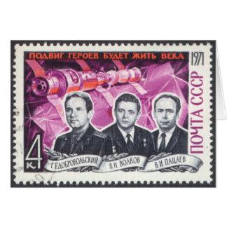 Soyuz 11 in Memoriam Note Card
