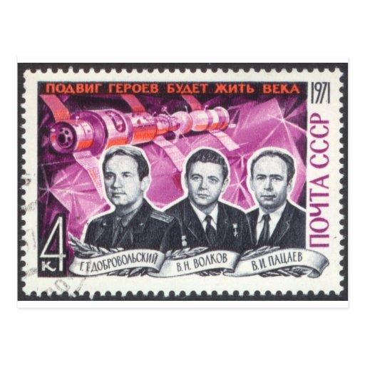 Soyuz 11 in Memoriam Postcards