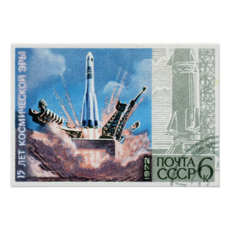 Soyuz Rocket Poster