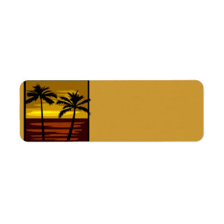 SP010  RETRO BROWNS GOLDS SUNSET PALM TREES LOGOS