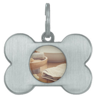 Spa and Retreat Background Pet ID Tag