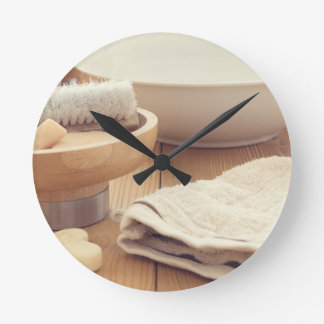 Spa and Retreat Background Round Clock
