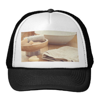 Spa and Retreat Background Trucker Hat