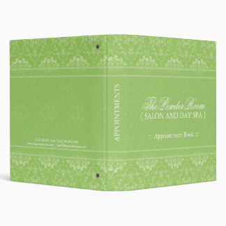 Spa and Salon Appointment Book 3 Ring Binder