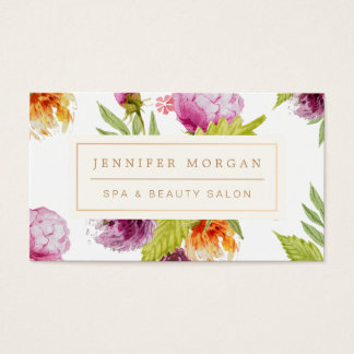 SPA Beauty Salon Girly Floral Appointment Card