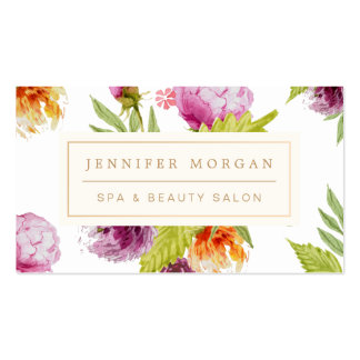 SPA Beauty Salon Girly Floral Appointment Card Business Card
