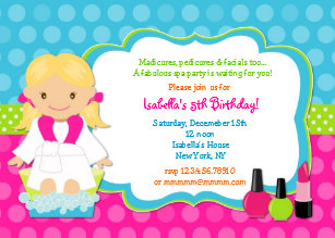 Spa birthday invitations announcements zazzle ca spa birthday party invitations filmwisefo