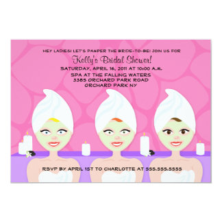 SPA BRIDAL SHOWER INVITATION Pink / Purple