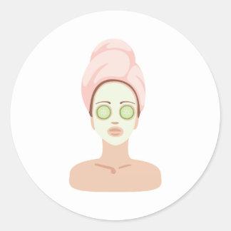 Spa Day Classic Round Sticker