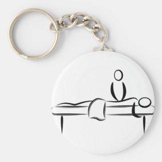 Spa Day Massage Basic Round Button Keychain