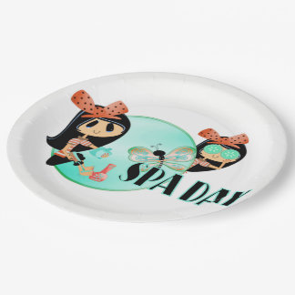 Spa Day Paper Plate