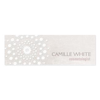 Spa élégant de texture ene ivoire blanche de carte de visite petit format