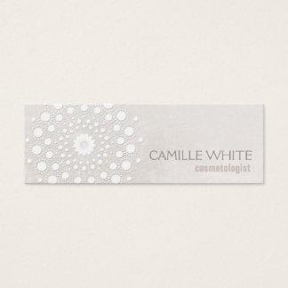 Spa élégant de texture ene ivoire blanche de mini carte de visite