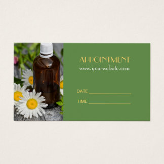SPA Essential Oil Massage Aromatherapy Appointment Business Card