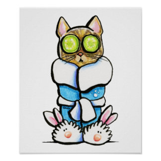 Spa Kitty Cat Poster