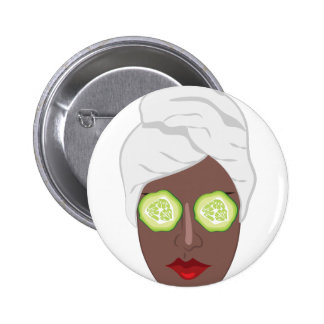Spa Lady 2 Inch Round Button