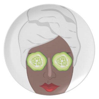 Spa Lady Plates
