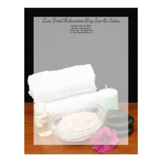 Spa/Massage/Pedicure Salon Scene Black/Color Letterhead