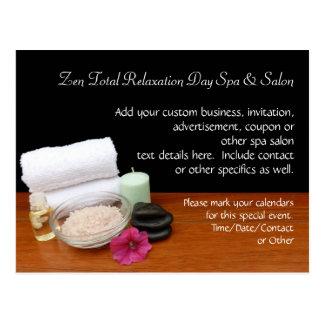 Spa/Massage/Pedicure Salon Scene Black/Color Postcard