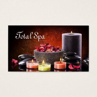 Spa Massage Salon Business Card Candles