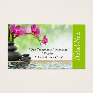 Spa Massage Salon Business Card Green