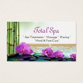 Spa Massage Salon Business Card Purple White