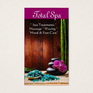 Spa Massage Salon Business Card Therapy