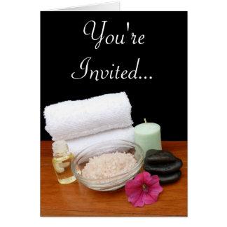 Spa noir couleur de scène salon de massage pédicur carte