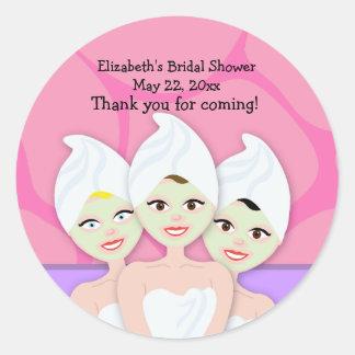 Spa Party Bridal Shower Birthday Favor Sticker