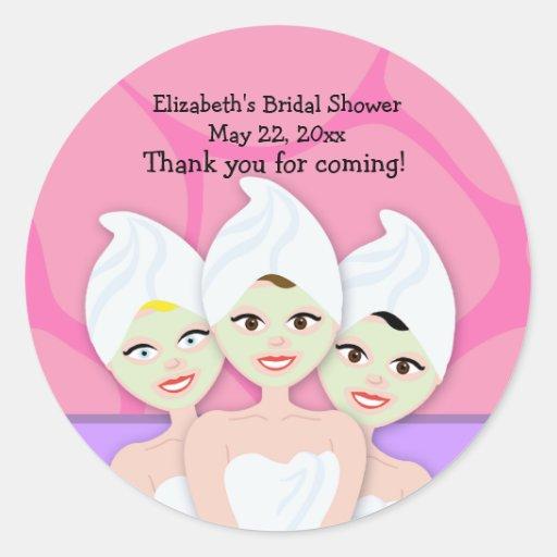 Spa Party Bridal Shower / Birthday Favor Sticker