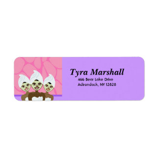 SPA PARTY PRINTABLE ADDRESS LABELS